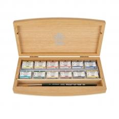 Farby Akwarelowe Schmincke Horadam 12 Kostek Wooden Box Limited Edition 74798097