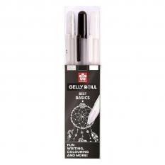 Długopisy Żelowe Sakura Gelly Roll Best Basics 3 Set Poxpgbmix3b