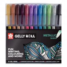Długopisy Żelowe Sakura Gelly Roll Metallic 12 Set Poxpgbmet12