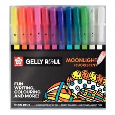 Długopisy Żelowe Sakura Gelly Roll Moonlight 10 Set 12 POXPGBMOO12