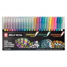 Długopisy Żelowe Sakura Gelly Roll Mix 24 Poxpgbmix24