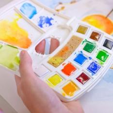 Farby Akwarelowe Talens Art Creation Watercolur Pocket Box 12 Half Pans 9022112m