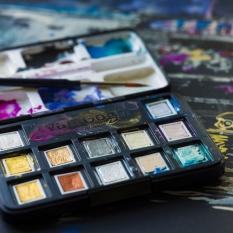 Akwarele Van Gogh 12 Half Pans Metallic & Interference Colours 20808640