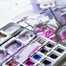 Akwarele Van Gogh 12 Half Pans Pinks & Violets 20808642
