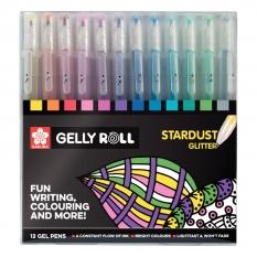 Długopisy Żelowe Sakura Gelly Roll Stardust 12 Poxpgbsta12