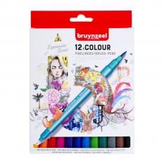 Pisaki Bruynzeel Fineliners Brush Pens 12 60325012