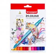 Pisaki Bruynzeel Fineliners Brush Pens 24 60325024