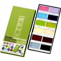 Farby Kuretake Gansai Tambi 12 Colours Set II MC20/12V/NW