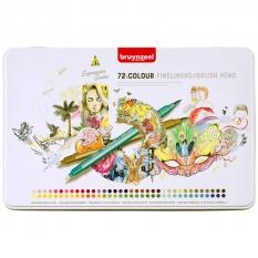 Pisaki Bruynzeel Fineliners Brush Pens 72 60325072