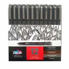 Cienkopisy Zieler Drawing Pen 12 Set 09299288