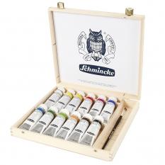 Farby Akrylowe Schmincke Akademie 12 X 60 Ml Wooden Box 76014097