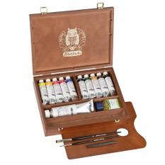 Farby Olejne Schmincke Mussini Small Wooden Box Set 70213097