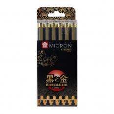 Cienkopisy Sakura Pigma Micron Black & Gold Edition 6 Poxsdkb6yos