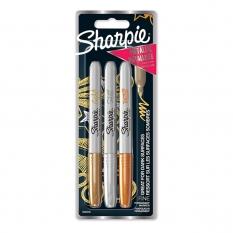 Markery Sharpie Fine Metallic 3 Set Gold Silver Bronze 1986006