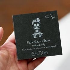 Szkicownik SMLT Black Sketch Pad 165 gsm 32 ark. Kostek 9 x 9 cm Mini Kwadrat FB-32(170)/BLACK/9