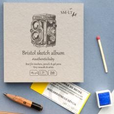 Szkicownik SMLT Art Bristol Sketch Smooth 185 gsm 32 ark. Aparat 9 x 9 cm Mini Kwadrat FB-32(185)/9