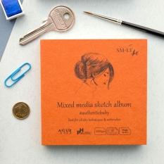 Szkicownik SMLT Universal Pad Mixed Media 200 gsm 32 ark Kobieta 9 X 9 cm Mini Kwadrat FB-32(200)/9