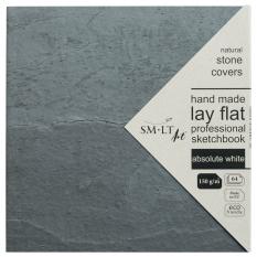 Szkicownik SMLT Stonebook 150 gsm 19,5 x 19,5 cm 64 ark. Absolute White FB-64(150)