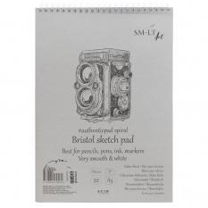 Blok SMLT Art Bristol Sketch Smooth 185 gsm 50 ark. Aparat A3 Spirala 3EB-50TS