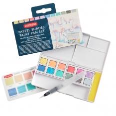 Farby Pastelowe Derwent Pastel Shades Paint Pan 12 set 2305865
