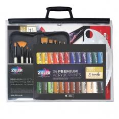 Zestaw do Malowania Zieler 37-Piece Acrylic Paint Set 09299370