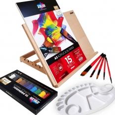 Zestaw do Malowania ze Sztalugą Zieler Acrylic Gift Set 07292259