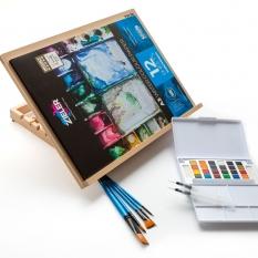 Zestaw do Malowania ze Sztalugą Zieler A3 Easel Watercolour Paint Set 07292260
