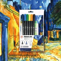 Pisaki Kuratke Art & Graphic Twin Historic Art Watercolor with Vincent Van Gogh 7 set WM-21/TUT6V