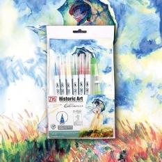 Pisaki Kuretake Zig Clean Color Real Brush Historic Art Watercolor with Claude Monet 7 set WM-21/RB