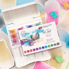 Akwarele Białe Noce 12 Plastic Box Pastel Colours 19421875