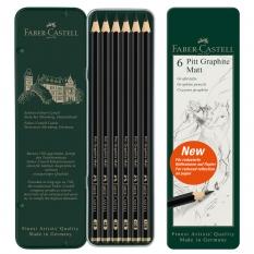 Ołówki Faber Castell Pitt Graphite Matt 6 set 115207