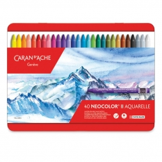 Pastele Caran d'Ache Neocolor II Aquarelle 40 set 7500340