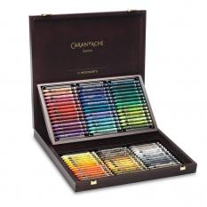 Pastele Caran d'Ache Neocolor II Aquarelle 84 Wooden Box 7500484