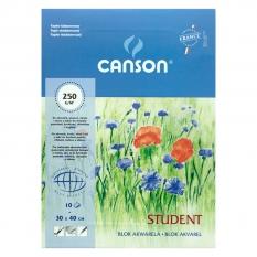 BLOK AKWARELOWY CANSON STUDENT 250 GSM 30 X 40 CM 10 ARK 200005507