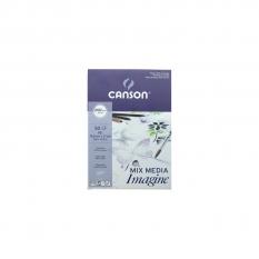BLOK CANSON IMAGINE MIXED MEDIA 200 GSM A5 14,8 X 21 CM 50 ARK. 200006009