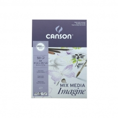BLOK CANSON IMAGINE MIXED MEDIA 200 GSM A4 21 X 29,7 CM 50 ARK. 200006008