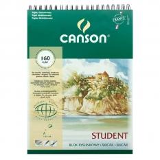 BLOK RYSUNKOWY CANSON STUDENT 160 GSM SPIRALA A3 29,7 X 42 CM 30 ARK. 100554893