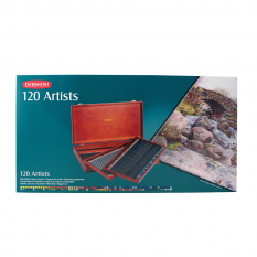 KREDKI DERWENT ARTISTS 120 WOODEN BOX 32098