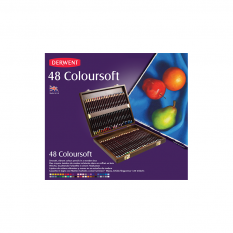 KREDKI DERWENT COLOURSOFT 48 WOODEN BOX 2301660