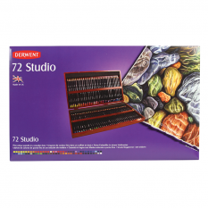 KREDKI DERWENT STUDIO 72 WOODEN BOX 32199