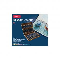 KREDKI AKWARELOWE DERWENT WATERCOLOUR 48 WOODEN BOX 0700758