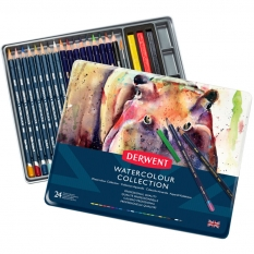 Zestaw Kredek Akwarelowych Derwent Watercolour Collection 24 0700304