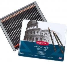 Ołówki Derwent Graphic 24 9H-9b 34202