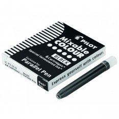 Wkłady do Pióra Pilot Parallel Pen 6 szt. Czarne IC-P3-S6-B