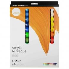 Farby Akrylowe Daler Rowney Simply Acrylic 24 set 126500024