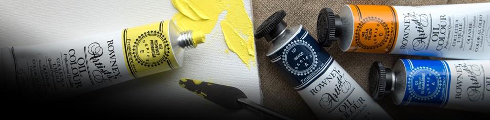 Do 3 farb olejnych Rowney Artists tubka Yellow Promrose Gratis!