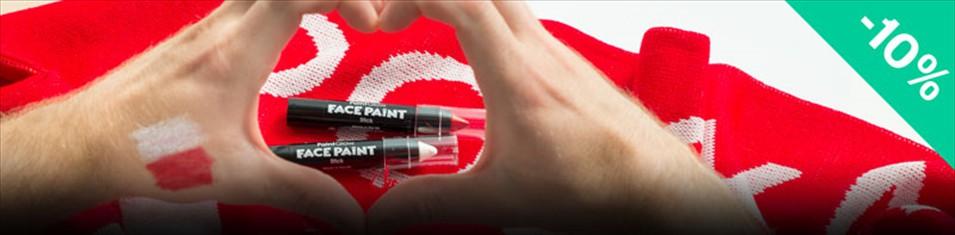W dniu meczu kredki do twarzy Paint Glow Face Paint Stick -10%!