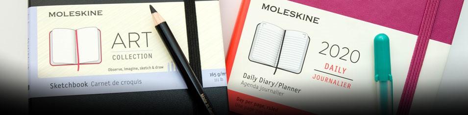 Do każdego kupionego szkicownika Moleskine kalendarz gratis!